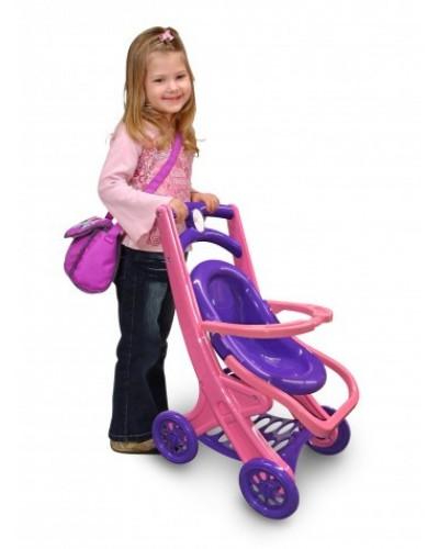 Візок для ляльок з шезлонгом 0122/02 Коляска для кукол с шезлонгом Долони Doloni