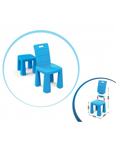 Стілець-табурет 04690/1 синій Doloni Детский стульчик табурет синий