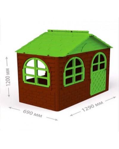 Детский игровой домик со шторками Doloni 02550/14 (Цвет Коричнево-зеленый)