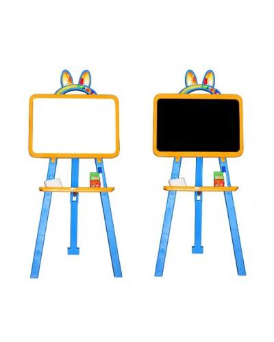 Доска для рисования (мольберт) магнитная, двухсторонняя Doloni 013777/1 (Цвет Желто-голубой)