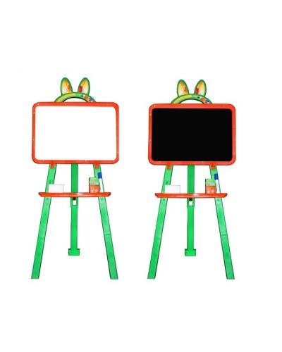 Доска для рисования (мольберт) магнитная, двухсторонняя Doloni 013777/3 (Цвет Оранжево-зеленый)