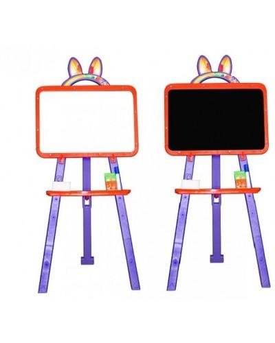 Доска для рисования (мольберт) магнитная, двухсторонняя Doloni 013777/5 (Цвет Оранжево-фиолетовый)