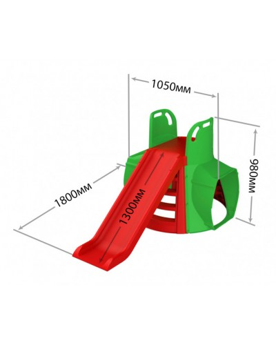 "Гірка з Тунелем (М)"" артикул 01470/11 Doloni"