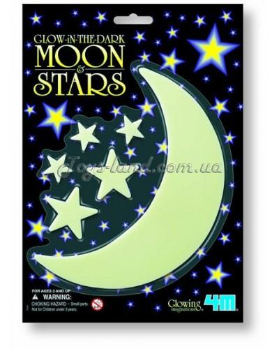 Месяц и звезды светящиеся в темноте (6 пред.), арт. 5229, 4М