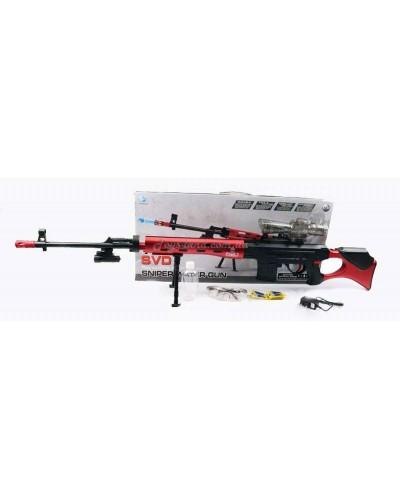 Снайперская винтовка аккум. вод.пули,аксес.,в коробке 68*32*7см