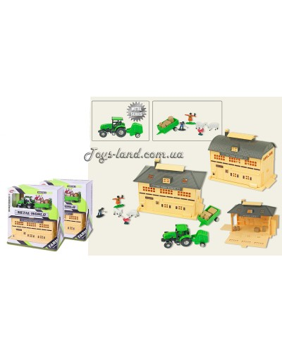 "Набор ""FARM WORLD"" 0407AB (48шт/2) трактор, с аксесс., в коробке 24*20*12см"