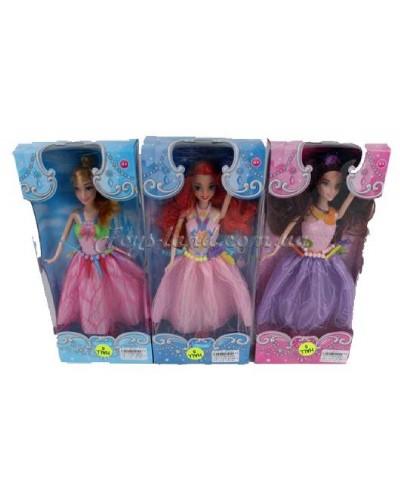 "Кукла типа ""Барби"" WQ1604ABC (1567130)  3 вида, в кор.14*5*32,5см"