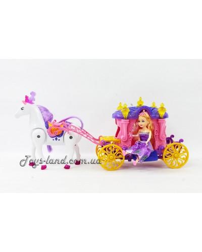 Карета с лошадкой, музыкальная, арт. 05011