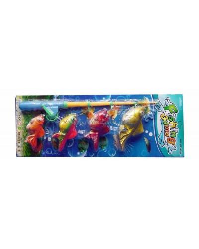 """Набор для рыбалки """"Удочка и 4 рыбки"""" (22х63 см), арт. 5833"""