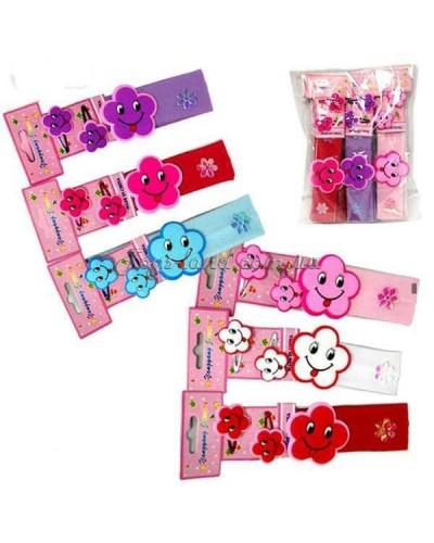 Набор бижутерии - повязка и заколки (6 цветов), арт. 3439 -34, Китай