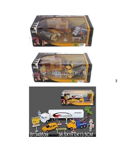 """Игровой набор метал. """"Construction Car"""" (1348534/6/9) (24шт/2) 3 вида в коробке 36,5*"""