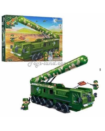 Конструктор BANBAO 6202 военная машина, фигурки 3шт, 502дет, в кор-ке, 45-35-7см