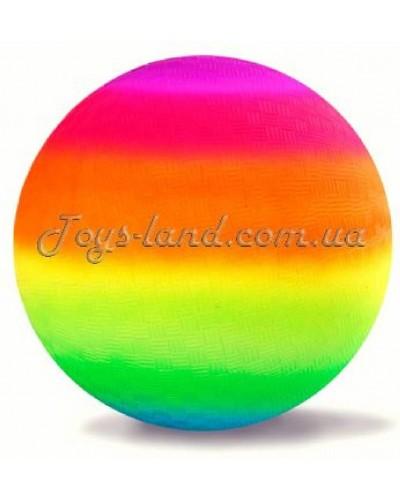 """Мяч резиновый """"Радуга"""" D 23 см/ 60 г, арт. M01134"""