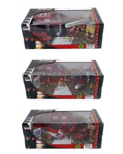 """Игровой набор метал.XZ1134C/35C/36C """"Fire Engine set"""" (1348544/5/6) (24шт/2) 3 вида в коробке 36,5*1"""
