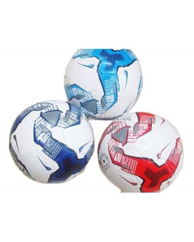 Мяч футбол, размер 5,PVC, ева, 330 грамм, 3 цвета, арт. 1702