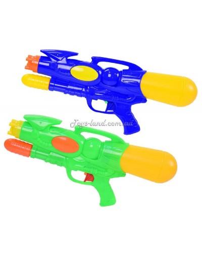 Водный пистолет LD-797A  с насосом, 2 цвета,  30см, в пакете 21,5*38см