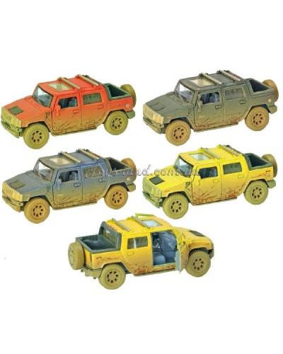 "Машина металл ""KINSMART"" KT5097WY""Hummer H2 SUT (Muddy)"" в кор. 16*8,5*7см"
