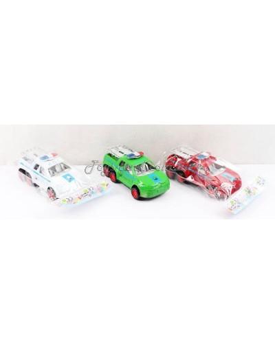 Машина инерц. 3381 3 цвета, в пакете 19*9*8см