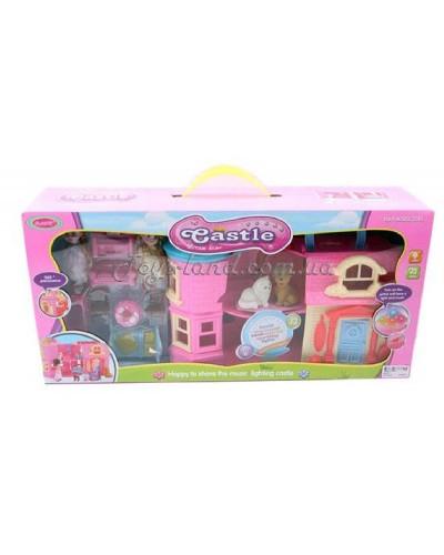 Домик SD181 раскладной, с куколками,мебелью,животными, в кор. 55*13*26см