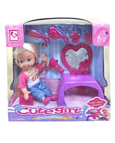 Кукла K899-21 с утул.столиком,аксессуары,в кор.