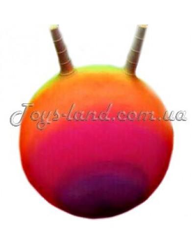 """Мяч для фитнеса """"Рожки"""" (радуга), D 55 см/ 350 г, арт. 105"""