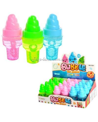 Мыльные пузыри мороженое, 3 цвета, в боксе