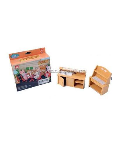 Мебель для флоксовых животных 012-03B Happy Family, кухня, в короб.12*13*4см