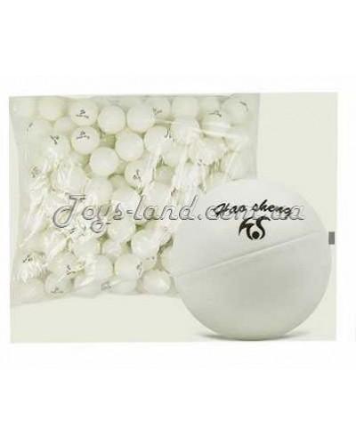 Теннисные мячики 40 мм, белые, 150 шт. в пакете, арт. 0106, Китай