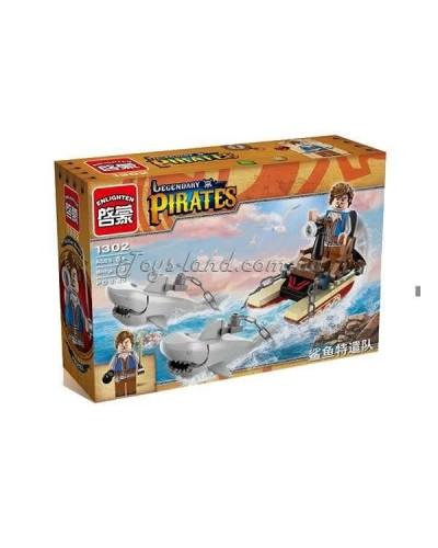 """Конструктор """"Brick"""" 1302  """"Pirates"""" 45 дет. в разобр.коробке"""