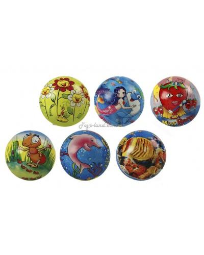 Мяч резиновый (9 видов), 9' 90g, арт. 4466
