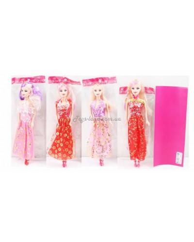 """Кукла типа """"Барби"""" (4 вида/ 28 см), арт. 121/2/3"""