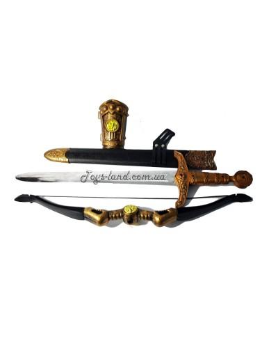 """Набор оружия """"Меч, лук и стрелы"""" (19 см), арт. 6651"""
