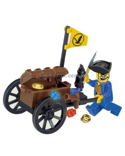 """Конструктор """"Brick"""" 1202  """"Пираты"""" 25 дет.,6+ лет,в собр. кор. 9.5*5*7см"""