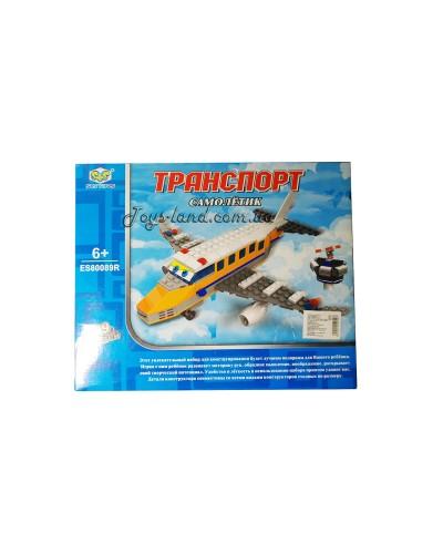 """Конструктор ES80089R """"Самолет"""" + акс.,в кор. 30*6,8*24см"""