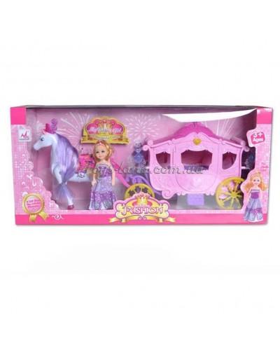 Карета музыкальная с лошадкой и куклой, арт. 05012 (1334774)