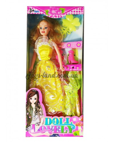 "Кукла типа ""Барби"" с аксессуарами (4 вида/ 32х15х4,5 см), арт. 2016-20"
