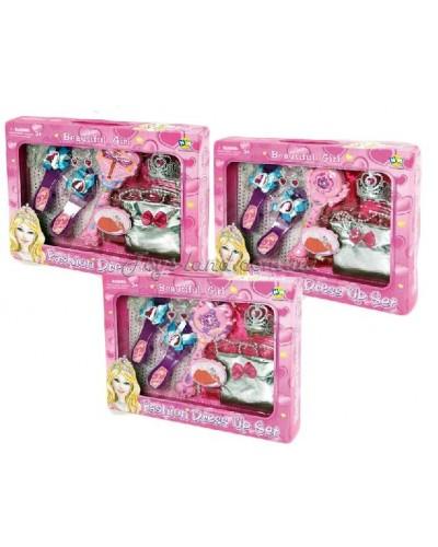 Аксессуары для девочек L849  3 вида,волш.пал,туфли,сумочка,акс, в кор.45*34*6,5см