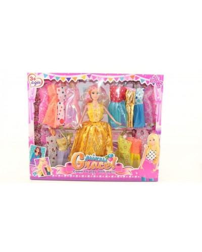 Кукла 30см 8011D с нарядами кор.40*32,5*5