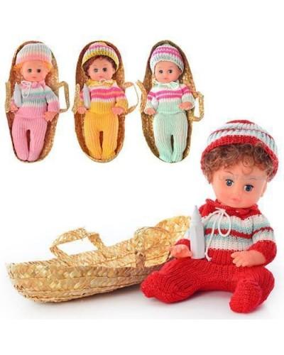 """Кукла-пупс """"Моя малышка"""" 30см 133 вяз.одежда с соской закр.глазки 4в.кул."""