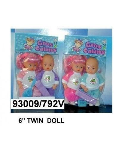Кукла 15см 792V близнецы 2в.2шт.в кул.ш.к