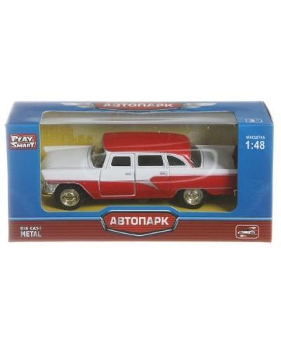 """Модель легковая PLAY SMART 6410A """"Автопарк"""" ретро метал.инерц. откр.дв. 6в кор.14*5,5*6,6"""