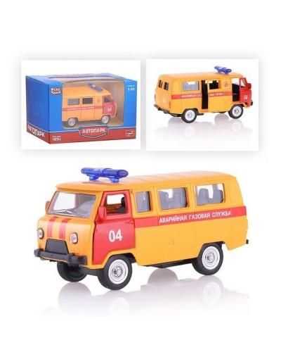 """Модель автобус PLAY SMART 6402D """"Автопарк"""" метал.инерц. откр.дв.кор. 12,5*5,7*7"""