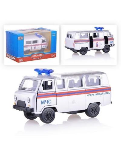 "Модель автобус PLAY SMART 6402F ""Автопарк"" МЧС метал. инерц. откр. дв. кор.12,5*5,7*7"