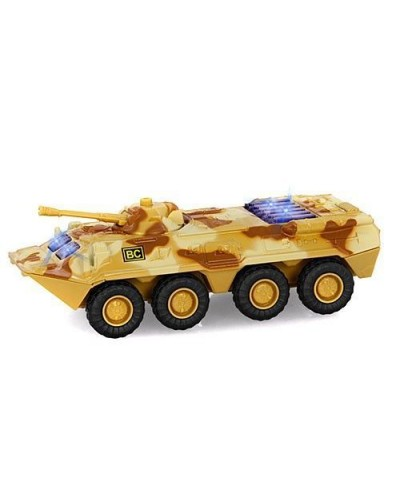 "Модель танк PLAY SMART 6409B ""Автопарк"" метал. инерц. батар. зв. свет кор.17*6,5*8"