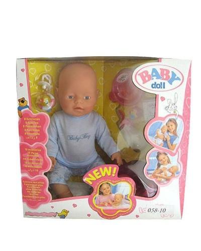 Кукла-пупс 058-10 интер-ный с аксес.можно купать, плачет 8ф-ций, горшок, в кор 38*19*37