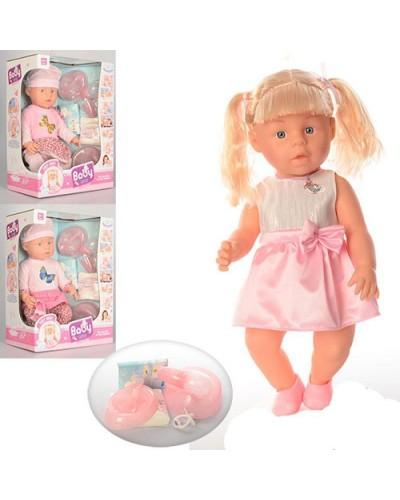 Кукла-пупс WZJ010-449/50 интер-ный с аксес. муз.горшок 2в.спак. кор.30*17,5*40,5