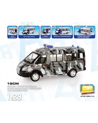 "Автобус PLAY SMART 9689-C ""Автопарк"" спец.отряд инерц  муз. свет. кор.21,5*10,5*11,4"