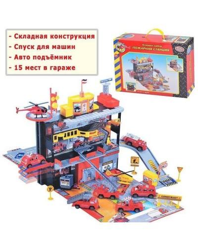 """Паркинг PLAY SMART 3041 """"Пожарная станция"""" с машинами кор.36*9*25"""