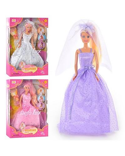 Кукла DEFA 28см 6003 невеста меняет цвет волос 3в.кор.33*6*22