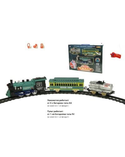 Железная дорога батар р/у 40 свет, звук, 24 дет., длина дороги 440 см, в кор. 45*3*7см